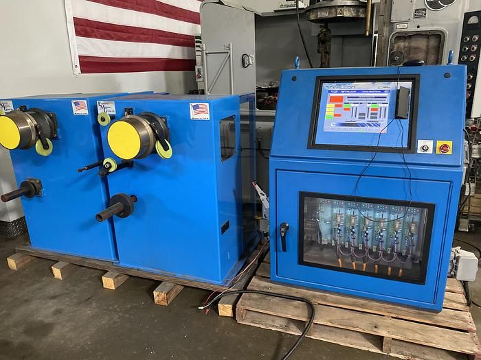 Used Engineered Machinery Group / Falcon CNC Software  2 Station Wire Drawing Machine System #5929