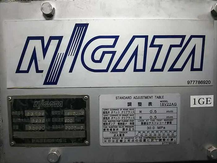 Used Niigata 18V22AG gas generator 50 Hz sets in excellent working condition.
