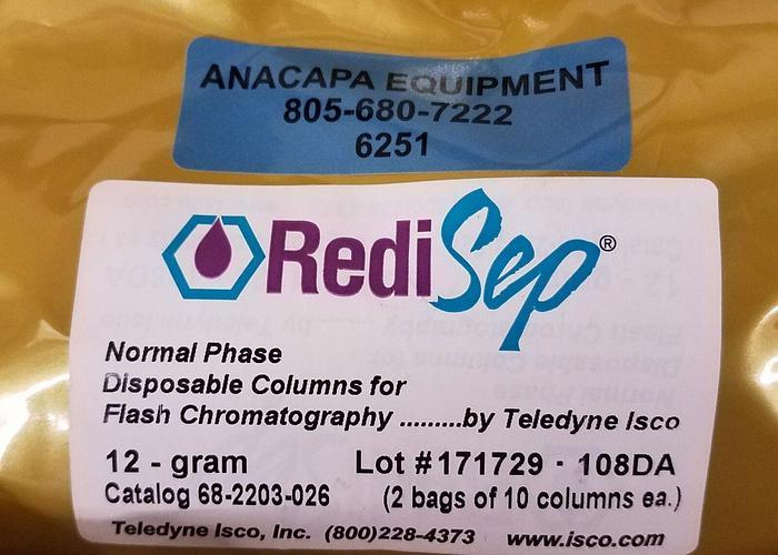 Teledyne Silica RediSepRF Normal Phase 12g Flash Chromatography 10 Column (6251)