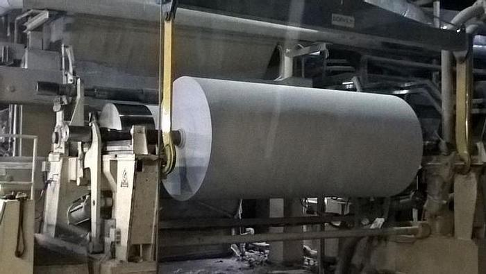 "Used 136"" (3.45M) VOITH HORIZONTAL TRACK REEL 1200M/MIN"