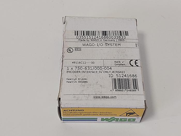 Encoder Interface RS422, 750-631/000-004, Wago neu