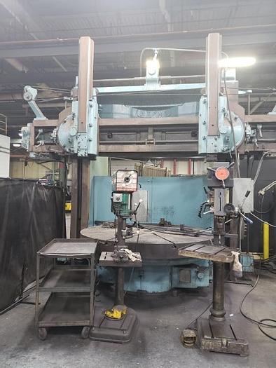 "Used 90"" Cincinnati Hypro Vertical Boring Mill, Maximum Swing 103"", 72"" Height under rail, (2) Rams, 50 HP, 43 RPM"