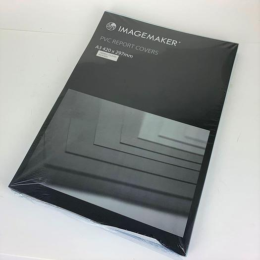 Clear PVC A3  Document Binding Cover Sheets 180 Micron (Pack of 100)
