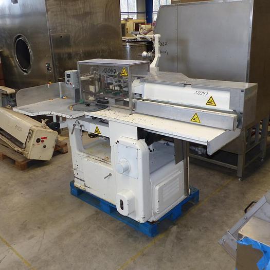 Gebraucht gebr. Stannioliermaschine Fabrikat SAPAL Type PRLP für Bodenfaltung eingerichtet.