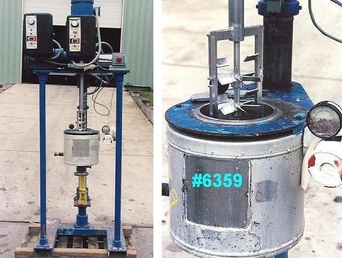 Used 0.5 GALLON B AND G LAB PROCESS VESSEL – SANITARY S/S – JACKETED