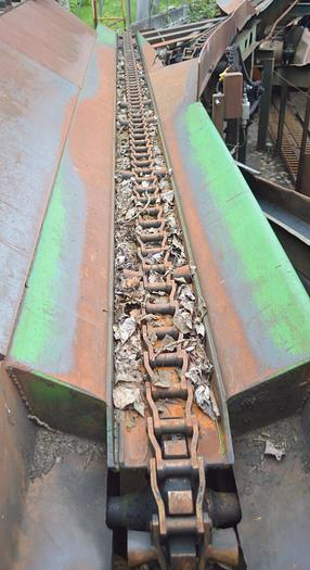 Used log haul conveyors 30ft long, H132 with flites log chain conveyor