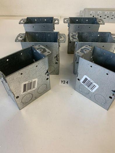 """LOT 6  3-1/2"""" Gangable Switch Box, CY-1/2 Steel City Conduit Wall Box Fast Ship!"""
