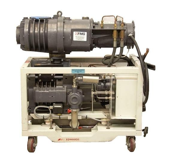 Used BOC Edwards QDP40 Dry Semiconductor Dry Vacuum Pump w/ QMB250 Booster USED 4561R