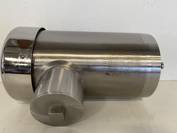 Used Stainless Motors  PE2C02N04B1TOFM Stainless Steel 2 HP Washdown Duty Motor