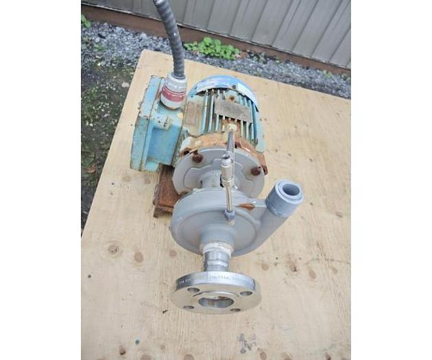 """USED CENTRIFUGAL PUMP, 1.25"""" X 1"""" INLET & OUTLET, 316 STAINLESS STEEL, XP MOTOR"""