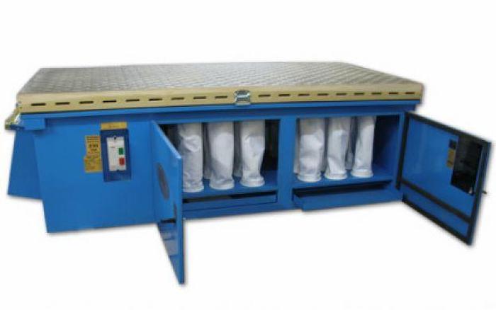 Used Denray 9600 Downdraft Table