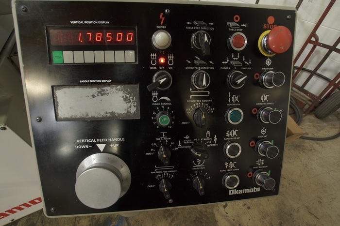 Okamoto Automatic Surface Grinder ACC 8-20 DX Incremental Down Feed Runs Great ACC 8-20