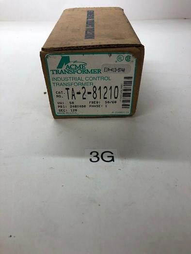 NEW Acme Control Transformer TA-2-81210 Warranty! Fast Shipping!