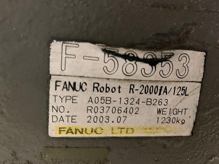 2003 PREVIOUSLY REFURBISHED  FANUC   R2000iA/125L W/ DEVICENET AND BASEPLATE