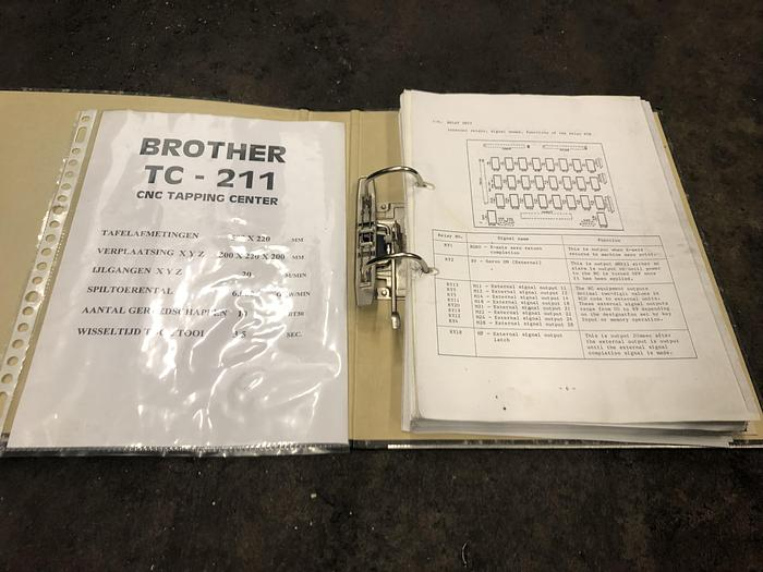Brother TC 211 CNC Tapping center