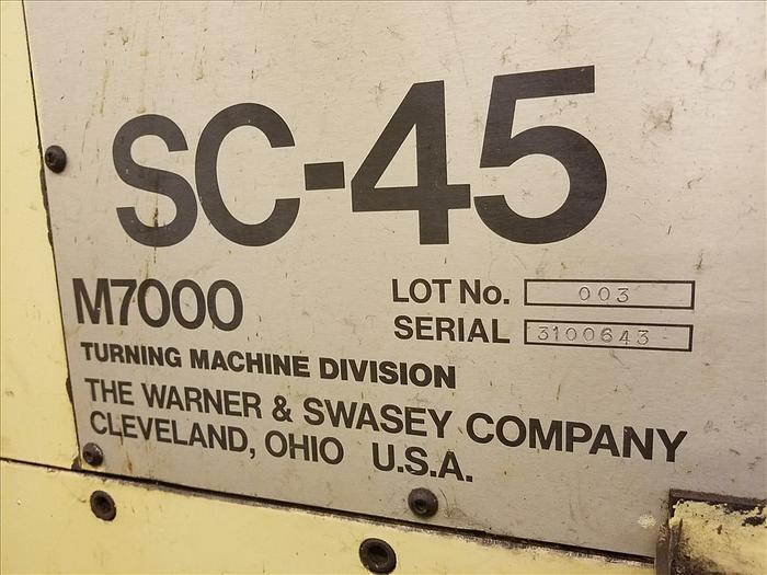Warner & Swasey SC45 CNC TURRET LATHE