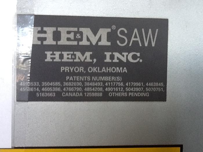 1995 H.E.M.  H160XLM-DC DUAL COLUMN LARGE CAPACITY BAND SAW