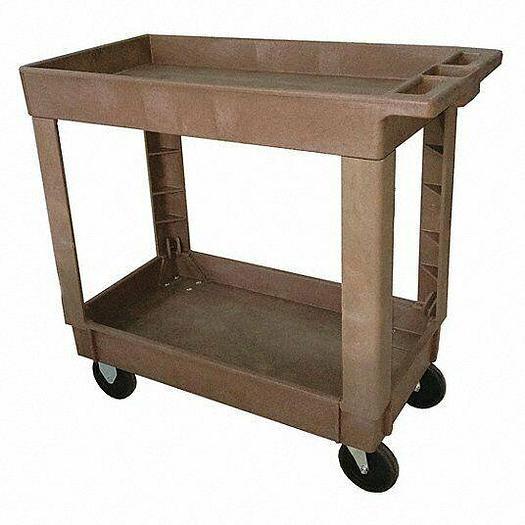 Used Grainger 5UTH8 Lipped Shelf Rolling Cart NEW IN BOX! 4 Available Dark Gray