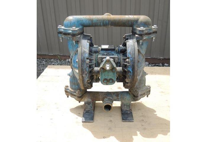 "USED DIAPHRAGM PUMP, 1.5"" X 1.5"" INLET & OUTLET, CAST IRON"