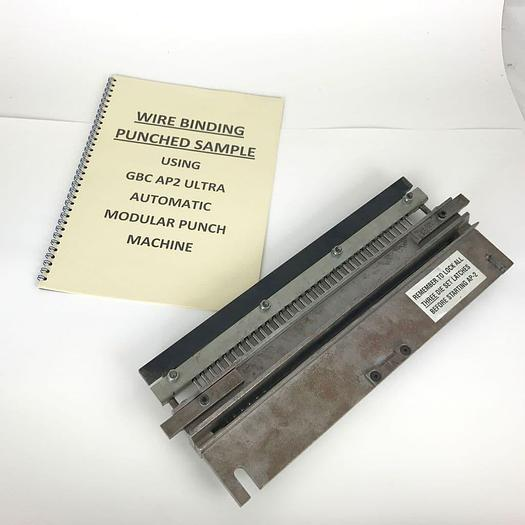 Used Pre-owned GBC AP2 3:1 Wire Round-hole Punch Tool Die