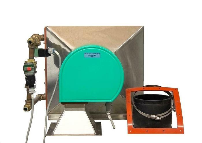 Used Air Water Heat Exchange 208V Stainless Steel w/ Solenoid Valves USED (8959) R