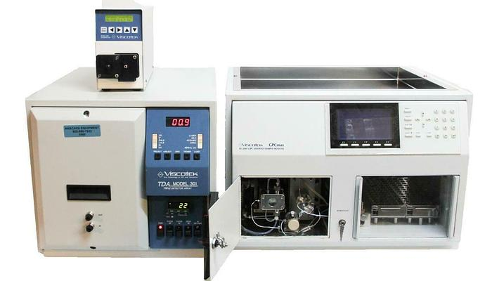Used Viscotek VE 2001 GPC Max 2501 UV Detector & TDA 301 Chromatography System (6960)
