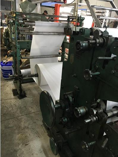 Fischer & Krecke – flat and satchel paper bag making machine with 2 col. flexo