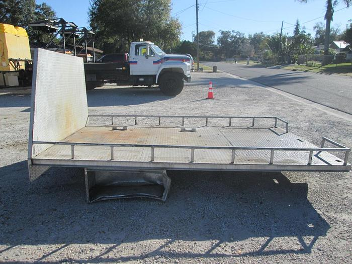 Used 8'x12' Aluminum Tred Plate Flat Bed Truck Body