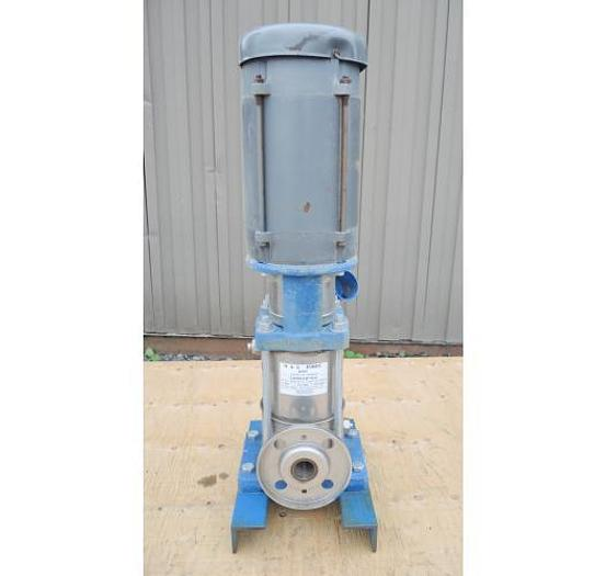 "USED CENTRIFUGAL PUMP, 1.25"" X 1.25"" INLET & OUTLET, 316 STAINLESS STEEL, MULTI-STAGE VERTICAL BOOSTER PUMP"