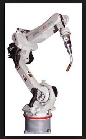 Used YASKAWA MOTOMAN EA1400N 3KG X 1390MM REACH 6 AXIS CNC ROBOTIC DUAL ARM DUAL TRUNION WELD CELL