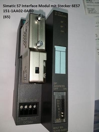 Gebraucht Simatic S7 Interface Modul mit Stecker, 6ES7 151-1AA02-0AB0, Siemens