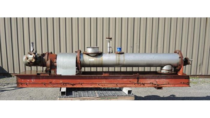 "USED SCREW CONVEYOR, 10"" DIAMETER X 54"" LONG, STAINLESS STEEL,"