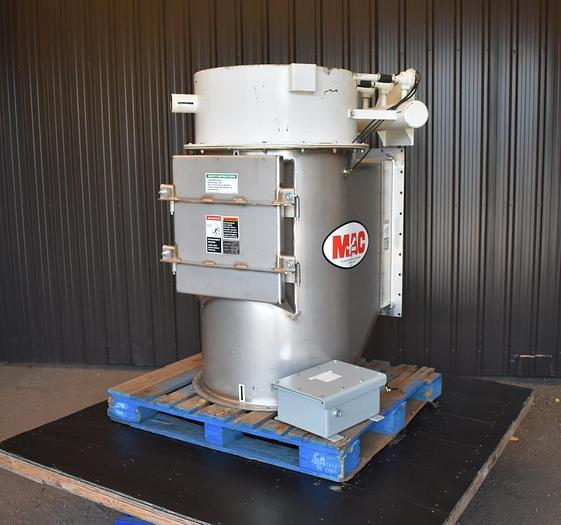 Used USED STAINLESS STEEL FILTER RECEIVER DUST COLLECTOR, PULSE AIR, 119 SQ.FT APPROX.