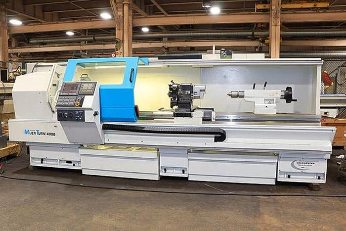 Used 3122, Clausing Colchester, Combi 4000, CNC Manual Gap Bed Lathe, 2007
