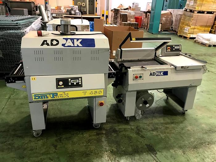 Used 2008 Adpak Smipack FP560A Automatic L-sealer and T450 Heat Tunnel