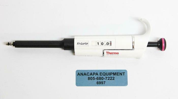 Used Thermo Scientific 4641170 F1-ClipTip Variable Volume 1-10 ul Pipette (6997) R