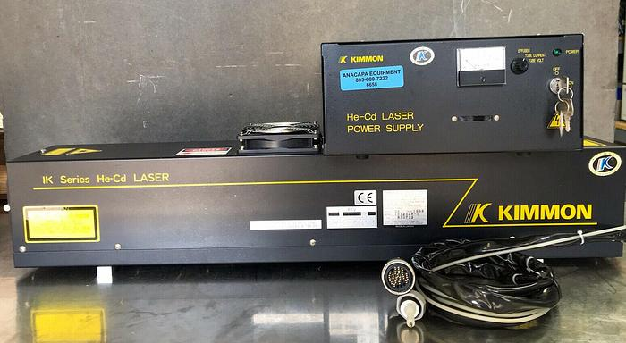 Used Kimmon Electric 1K3202R-D, KR1801C IK Series He-Cd Laser & Power Supply (6658) W
