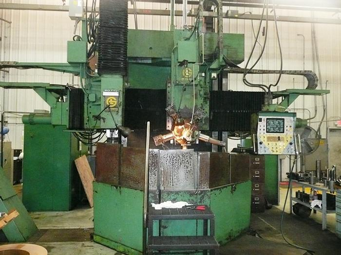 "60"" Giddings & Lewis CNC Vertical Boring Mill, 72"" Swing, 48"" Under Rail, 250 rpm, 50 hp, 800B, ID17356"