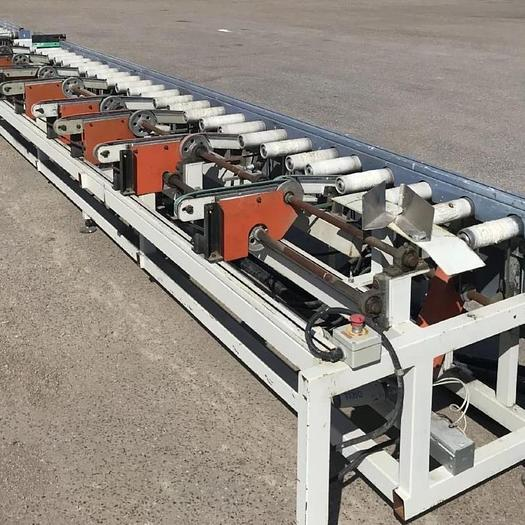 Used Roller conveyor after painting boards