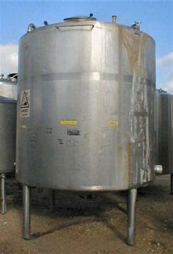 Used 8,000 ltr Stainless Steel Single Skin Tank