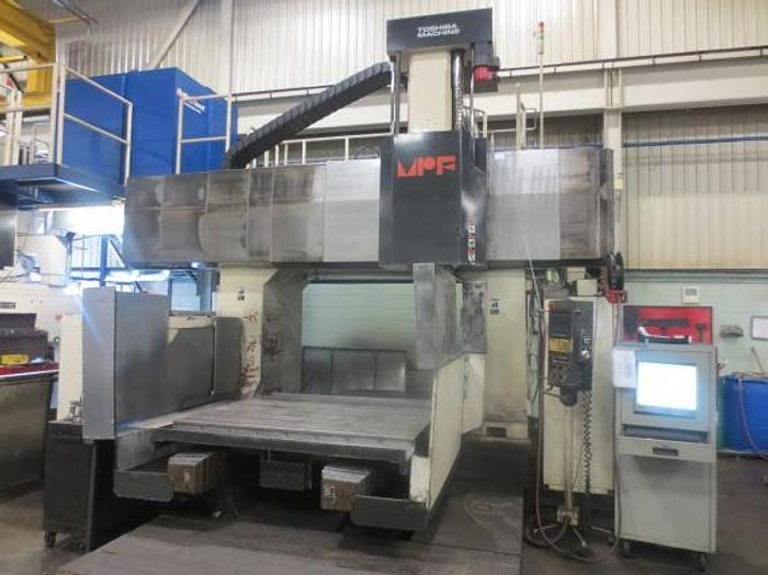 "Used 55""X, 82.7""Y, 28""Z, TOSHIBA MFP 2114C, 1997, CNC DOUBLE COLUMN MACHINING CENTER"