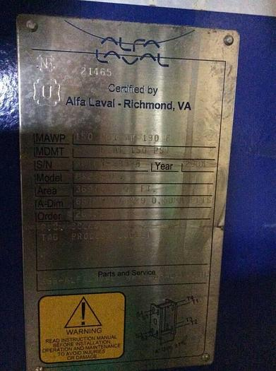 Used Alfa Laval MX25-BFG Plate Type Heat Exchanger MX25-BFG