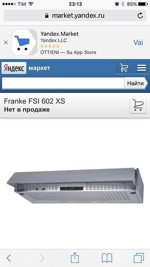 Usata CAPPA FRANKE FSI 602 XS (60 CM)