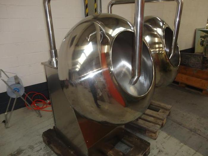 Used Coating pans, stainless steel