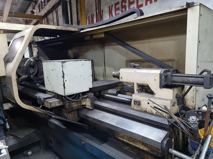 Used 2007 CNC TAKANG LA26-3000 HEAVY DUTY CNC TURNING LATHE MACHINE