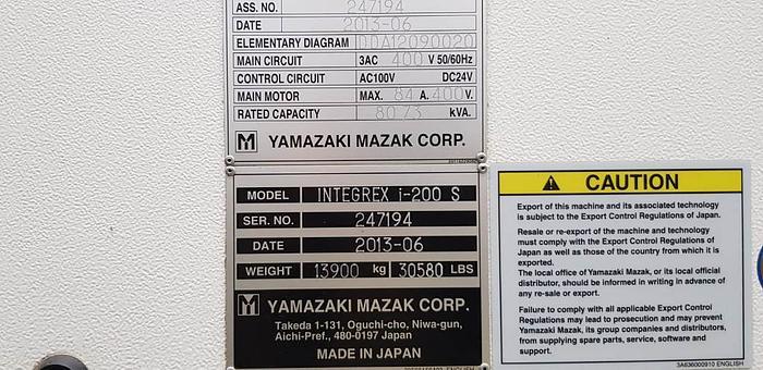 2013 MAZAK INTEGREX I-200S