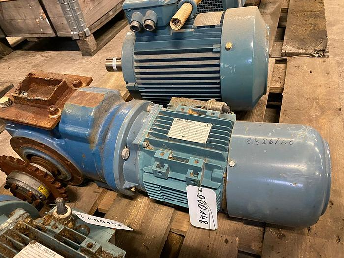 Used ABB Motors Electric motor with reducer 1,5 kW