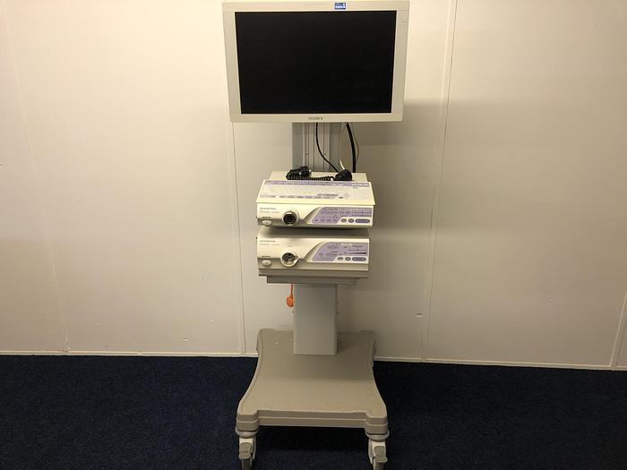 Endoscopy System Olympus EVIS LUCERA 260 on trolley