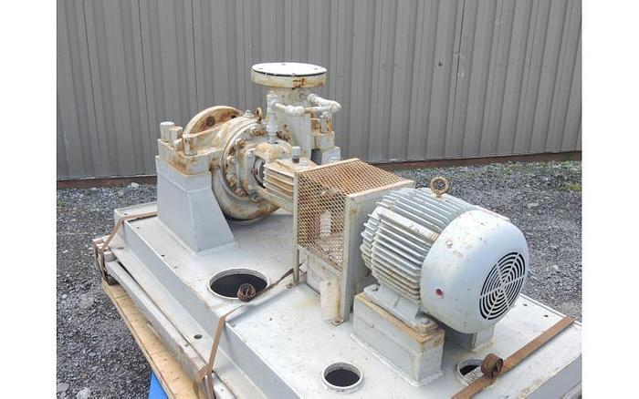 "USED CENTRIFUGAL PUMP, 9"" X 6"" INLET & OUTLET, CARBON STEEL"