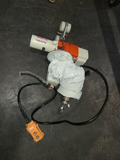 Used Carpenter Harrington Crane Hoist 1000 Lbs Capacity CLEAN ROOM Medical Stainless